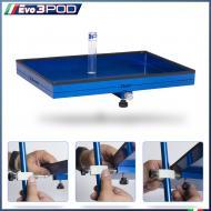 Piatto Grande in Alluminio Anodizzato Blu con Porta Aghi